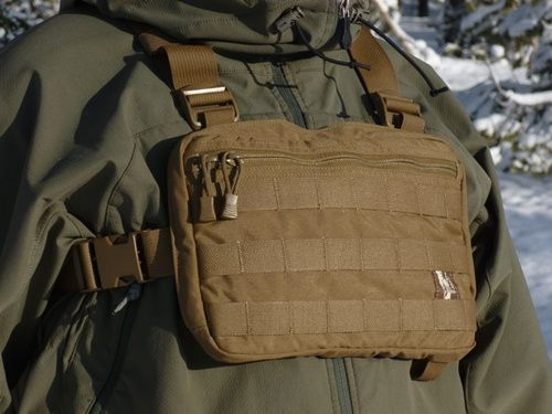 Could work as a great light weight chest pack. Check out later.