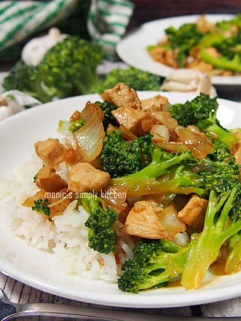 Ayam Cah Brokoli Brokoli Makanan Dan Minuman Masakan