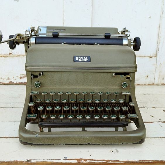 Green Royal Typewriter KMM Magic Margins by RelicsAndRhinestones....flashback time!!