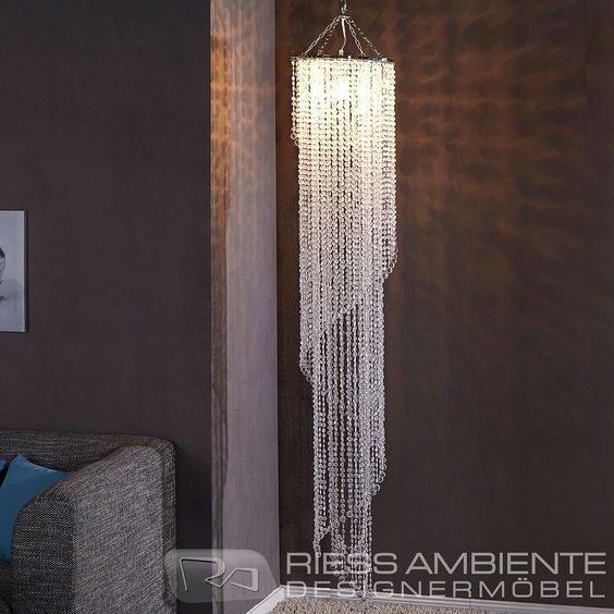 Design XL Hängelampe Kronleuchter BIG STRASS 180cm Kristall Lampe Hängeleuchte   eBay