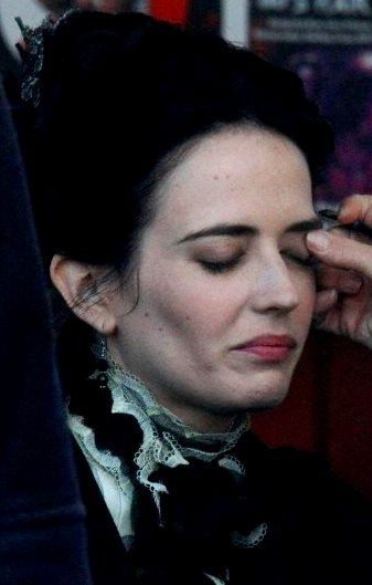Eva Green at the set of 'Penny Dreadful'