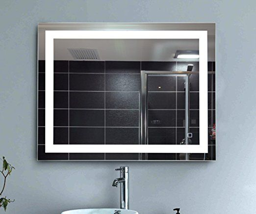 Dimmable Vanity Bathroom Home Office Led Lighted Mirror Hanged Two Way Frameless Backlit Wall Mirror Anti Backlit Mirror Bathroom Mirror Mirror With Led Lights