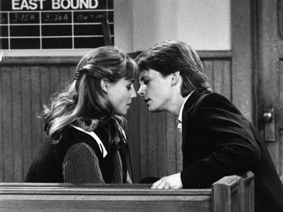tracy pollan and michael j fox on family ties when they