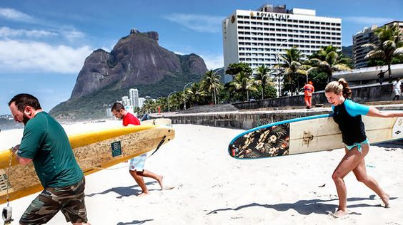 Rio de Janerio- grab your surfboards and head for the waves in Sao Conrado!: