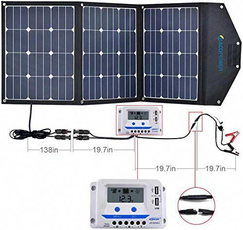 Great For Acopower 120w Portable Solar Panel Kits 12v Foldable Solar Panel With 10a Charge Controller In S In 2020 Solar Panel Kits Solar Panels Portable Solar Panels