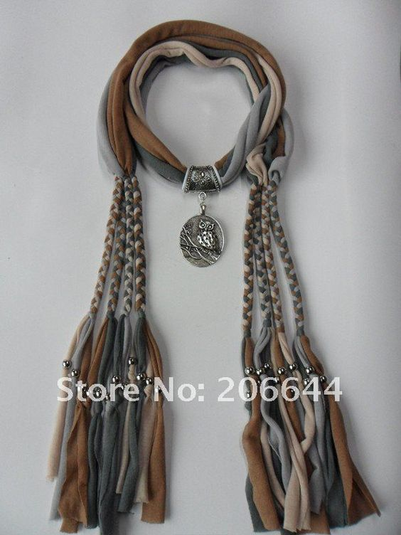 Scarf and necklace out of cotton fabric t-shirts. Link doesn't work but the concept is cool