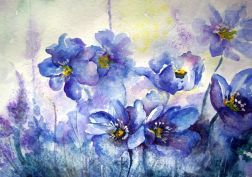 flower painting watercolor wallpaper