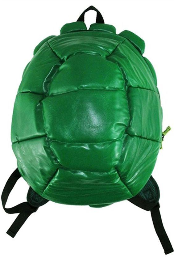 TMNT Teenage Mutant Ninja Turtles Turtle Shell Backpack With 4 Masks…