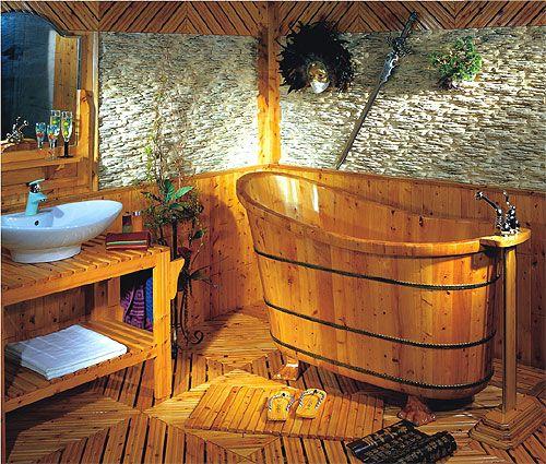 Bañeras rústicas baños rústicos , bañera de madera