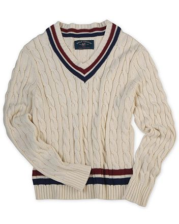 The Most Beautiful V-Neck Tennis Sweater