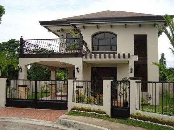 Pin By Heidy Alava On Detalles De Decoracion 2 Storey House Design House With Balcony Simple House Design