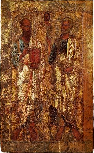 Antique icon of Saints Peter and Paul (c. 1050)