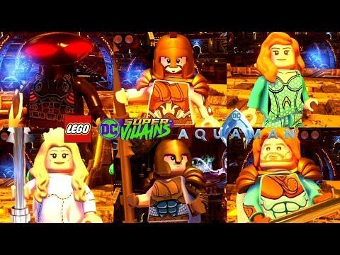 All Aquaman Movie Pack 1 Characters From Lego Dc Super Villains Lego Dc Super Villains Character