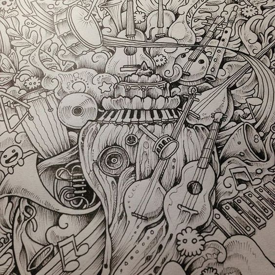 Preview of another page from my next coloring book for Imagimorphia coloring pages