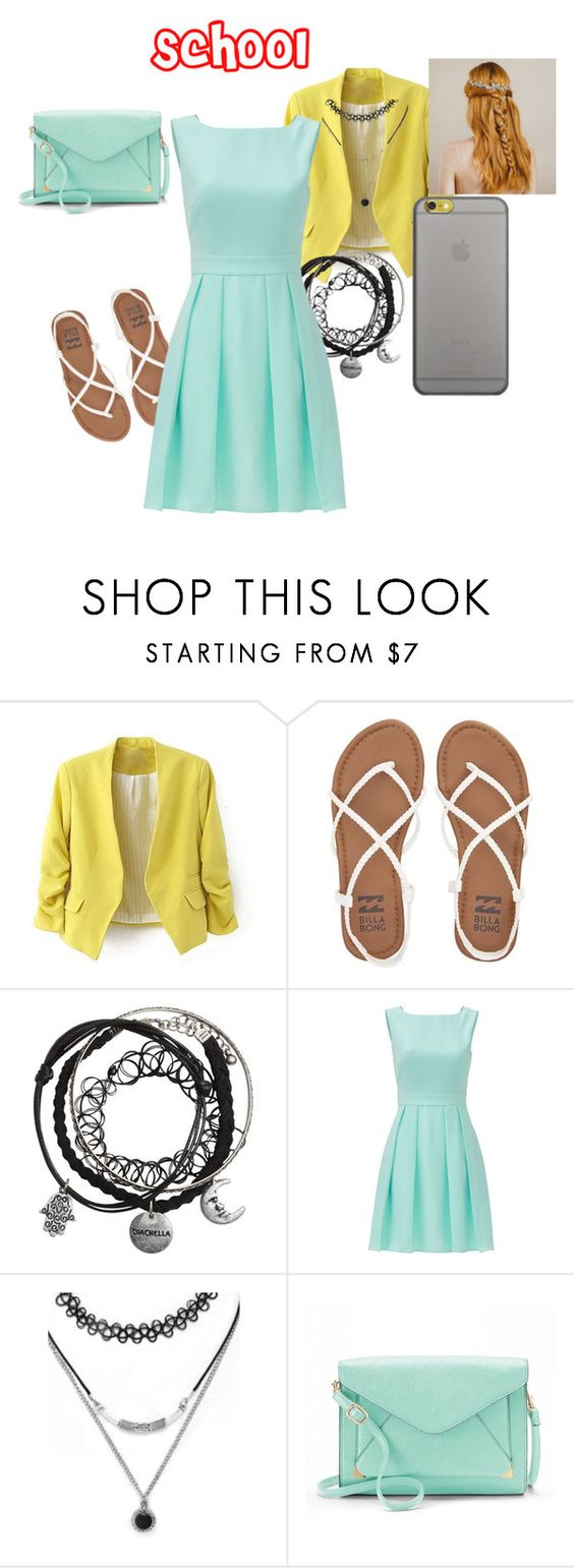 """School"" by firstbest on Polyvore featuring Billabong, Kate Spade, Forever 21, Apt. 9 and Native Union"