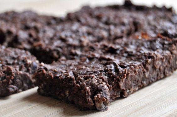 Feijão Preto aveia Brownies Vegan sem glúten 2