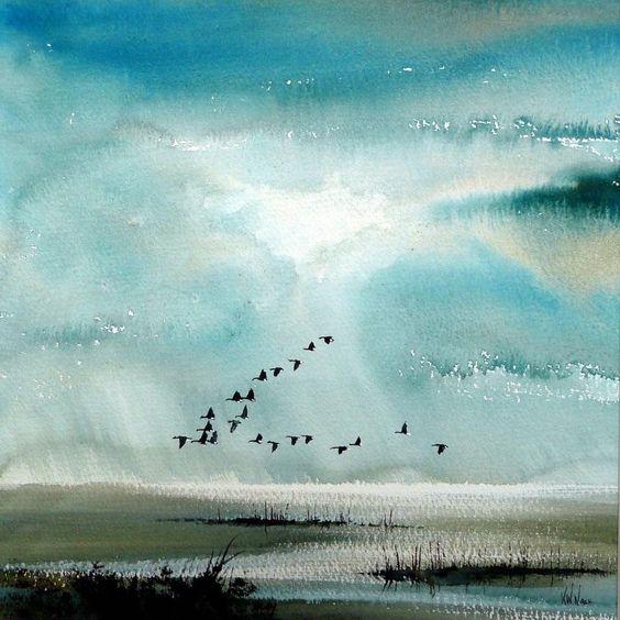 Keith Nash , aquarelliste britannique contemporain