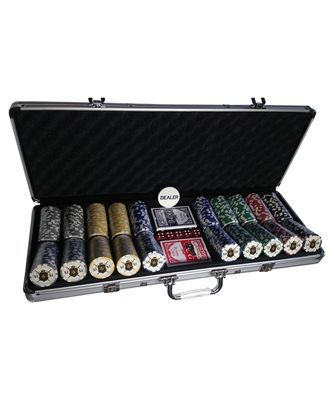 High End Poker Set w/ Aluminum Locking Case - 500 Custom Chips | Gifts for Him | Men's Gifts | www.CommandersCloset.com