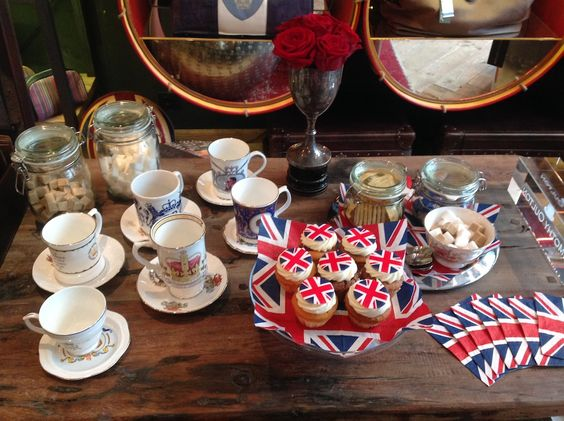 Timothy Oulton    Bristish afternoon tea  #heritage #queen #birthday #buffet #food #ideas www.timothyoulton.com/usa/en/to/trooping-the-colour/