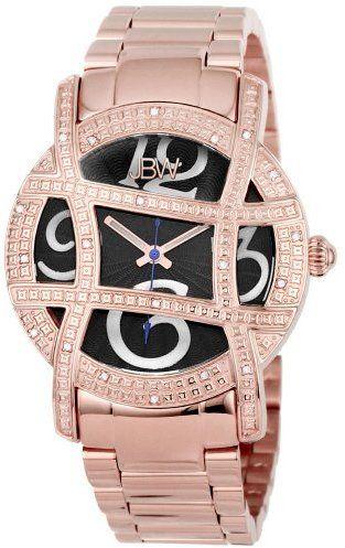 "JBW Women's JB-6214-F ""Olympia"" Rose-Gold Designer Diamond Gold Watch"