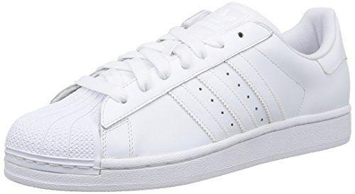 adidas Superstar Foundation Herren Sneakers, Weiß (Ftwr White/Ftwr White/Ftwr White), 45 1/3 - http://uhr.haus/adidas/45-1-3-adidas-superstar-foundation-herren-weiss-48