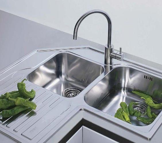 Franke Studio Stx 621 E Stainless Steel Corner Inset Sink Mutfak Mutfak Dolabi Mutfak Dekorasyonu