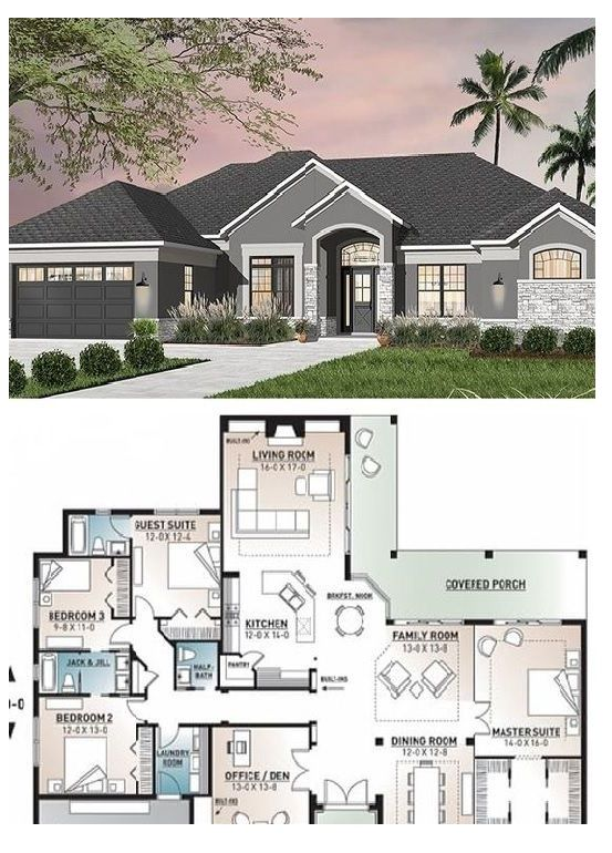 The Best House Plan 4 Bedrooms 3 5 Bathrooms Car Garage Building Plans House House Plans Mansion Best House Plans