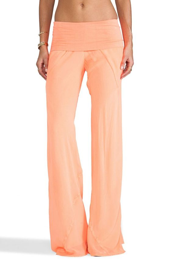 Peach linen pants | * Kiss & Make Up Girl Obsessions | Pinterest ...