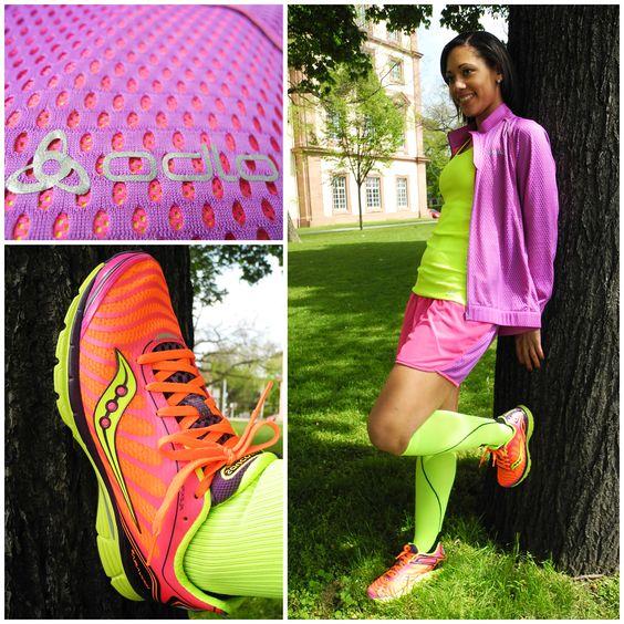 Mit neuem Outfit sportelt es sich gleich leichter. #neon #fitgirls #running