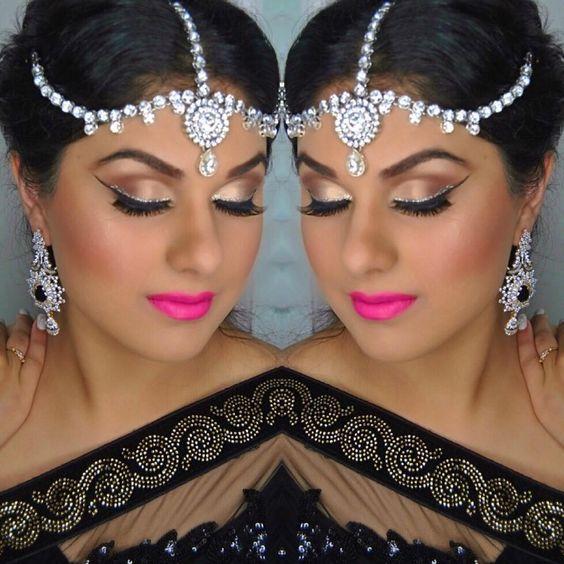 Client Heena  Hair by lash out studio artist @neetaujlamua  Makeup by @lashoutstudio  #hair #makeup #Vancouver #makeup artist #artist #hudashop #amrezy #anastasiabeverlyhills #katvondmakeup #lashoutstudio #lashes #maccosmetics #tarte #indianwedding #glam #lashes #instadaily