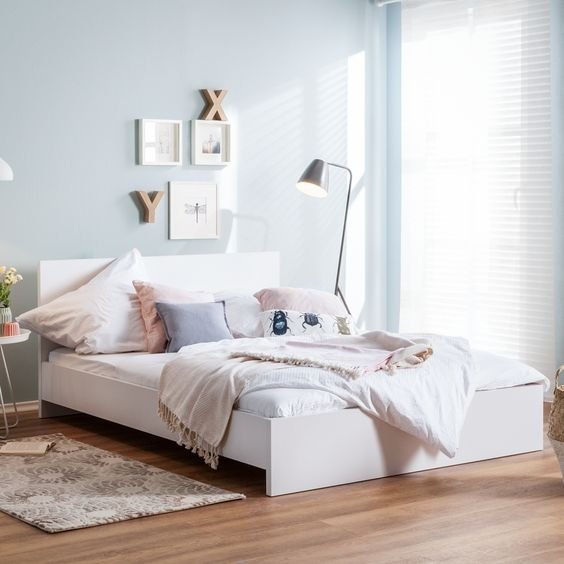 Bett Avoca - 140 x 200cm - Weiß