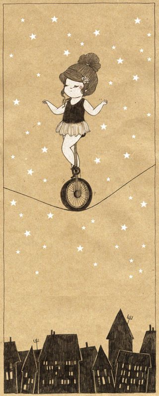 Circus | Carnival | Masquerade | Cabaret Photography at: http://www.pinterest.com/oddsouldesigns/the-secret-circus/ #unicycle #illustration