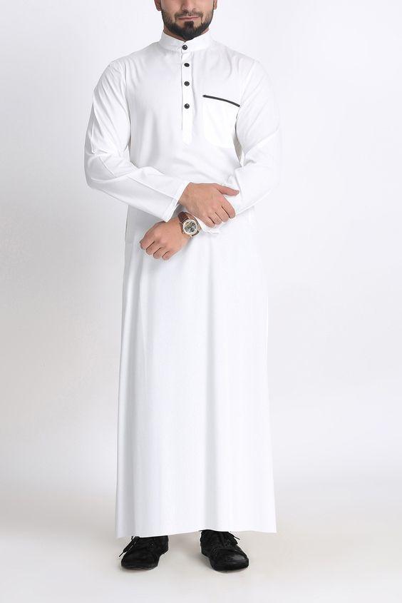 SAUDI ARABIAN THOBES : WHITE: Price $29.99 #dubaifashion #saudi #kurta #islamic #islamicquotes #muslim #menswear #mensfashion