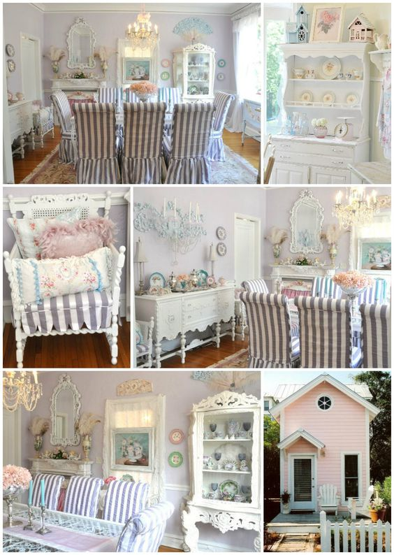 Cottage ♥ Little Pink Cottage, Shabby Chic Decor