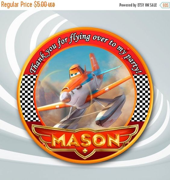 ON SALE 30% Disney Planes Tag Planes Thank You by ticketparty