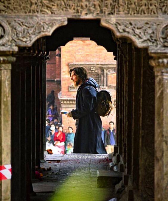 BENEDICT CUMBERBATCH in Nepal for filming docter Strange