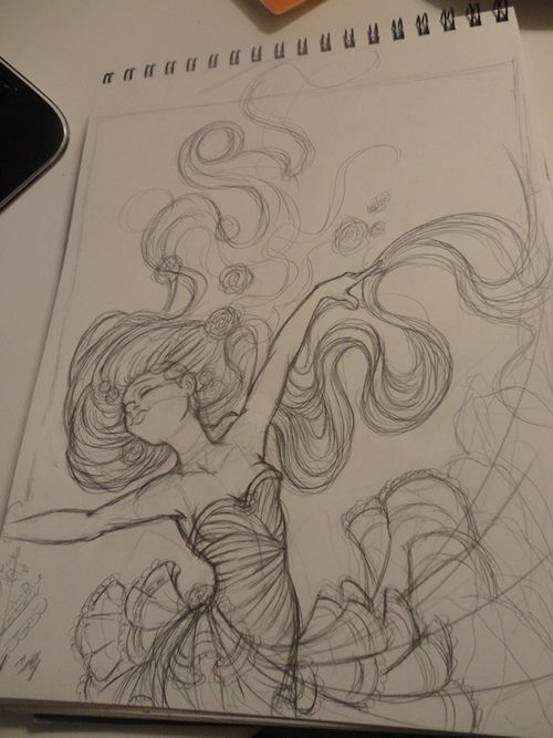 *sigh* just staring at beautiful drawings makes me want to grab by pencil and sketch book and draw.