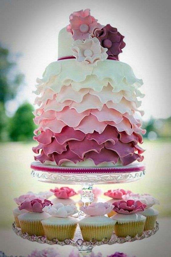 Torte nuziali rosa, le proposte più belle - Torta rosa originale