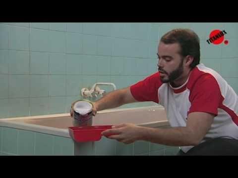 Pintar azulejos del ba o o la cocina pintura tutoriales - Pintar azulejos del bano ...