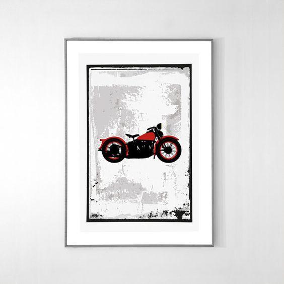 HarleyDavidson Knucklehead 61EL 1936 Poster BIG by loscadotte