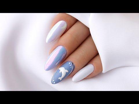 Letnie Paznokcie Delfin Youtube Trendy Nails Gel Nails Modern Nails
