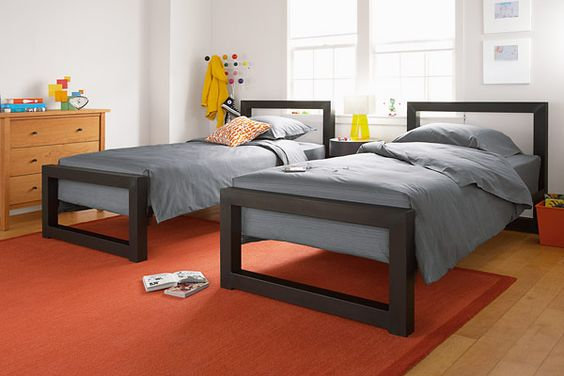 perspective twin beds | substantial + simple + modern