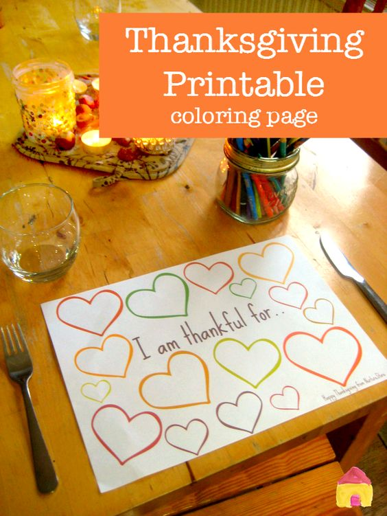 thanksgiving printable coloring page :: thanksgiving place mat printable