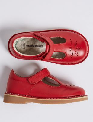 Kids' Leather T- Bar Shoes (4 Small