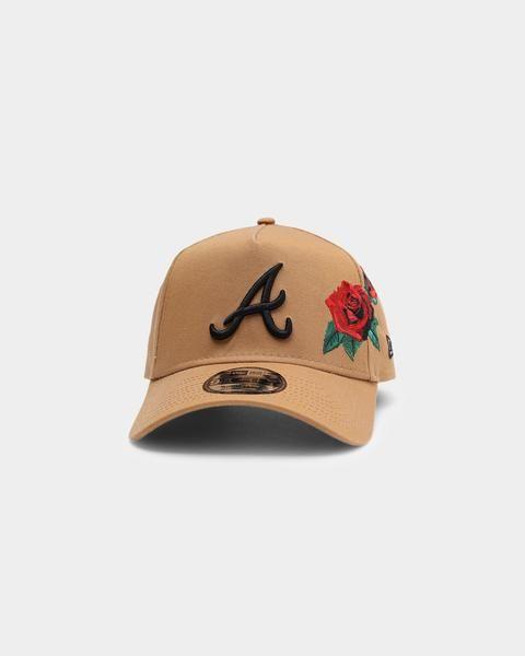 New Era Atlanta Braves Rose Hit 9forty A Frame Snapback Wheat Black In 2021 Atlanta Braves New Era Cotton Twill Fabric