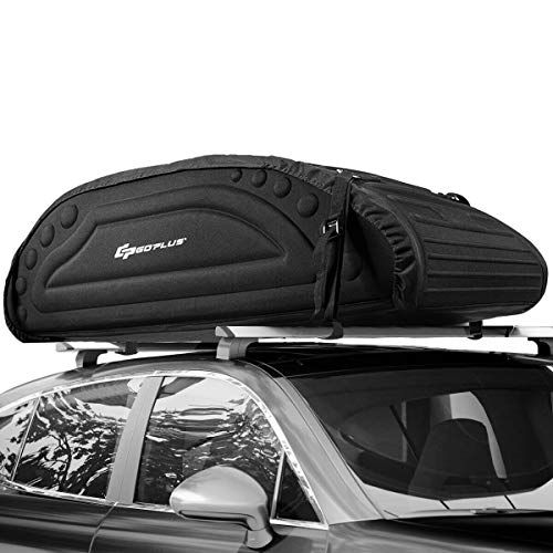Goplus Car Roof Bag 15 Cubic Feet Roof Top Cargo Carrier Weather Resistant Soft Shell Carrier Water Proof Cargo Ba Luggage Carrier Cargo Carrier Top Luggage