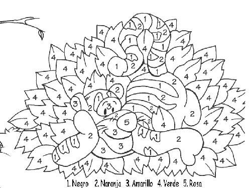 Dibujos Para Colorear Con Numeros Del 1 Al 100: Numeros Del 1 Al 20 Para Colorear