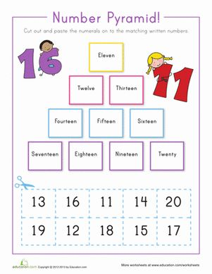 Number Names Worksheets counting to 20 worksheets free : Pinterest • The world's catalogue of ideas