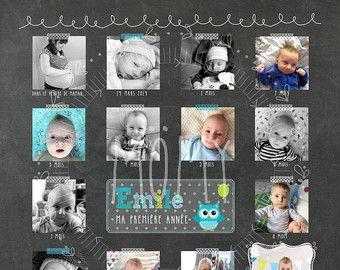 Affiche personnalisée 1er anniversaire thème par MOMYboutique