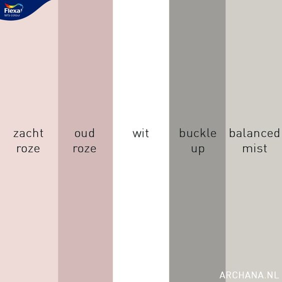 10 ideeën voor een slaapkamer met wit, roze en grijs - flexa kleuren | www.archana.nl